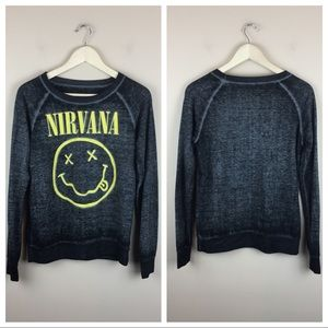 Nirvana Long sleeved Band tee size Small